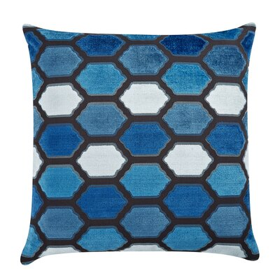 Evie Velvet Throw Pillow Color: Indigo