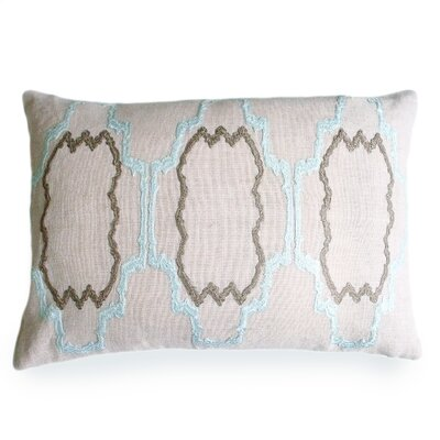 Lilly Linen Lumbar Pillow Color: Pale Blue
