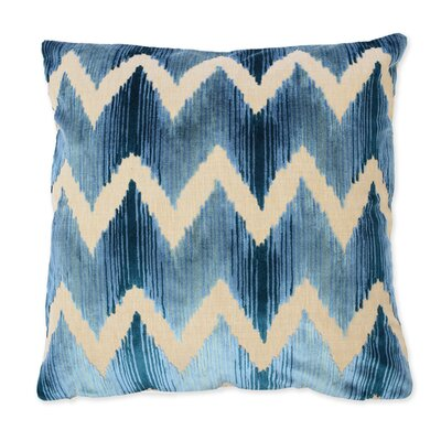 Mary Velvet Throw Pillow Color: Blue