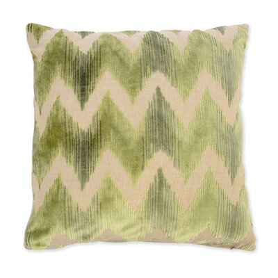 Mary Velvet Throw Pillow Color: Green