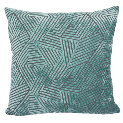 Olivia Velvet Throw Pillow Color: Turquoise