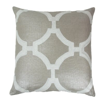 Reynolds Linen Throw Pillow Color: White