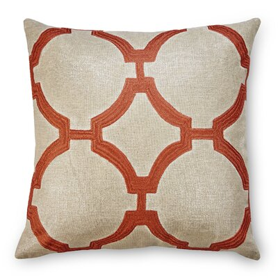 Reynolds Linen Throw Pillow Color: Coral