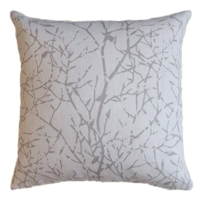 Twiggy Linen Throw Pillow
