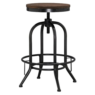 Julius Adjustable Height Swivel Bar Stool