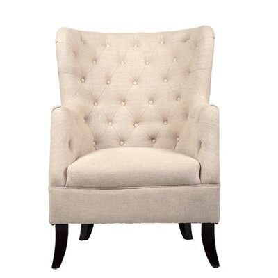 Caspar Wingback Chair Color: Wheat