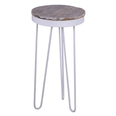 Royals End Table Finish: White