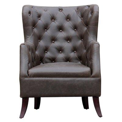 Caspar Wingback Chair Upholstery: Shadow