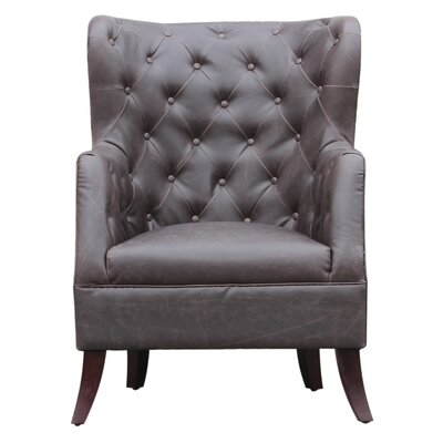 Caspar Wingback Chair Upholstery: Walnut