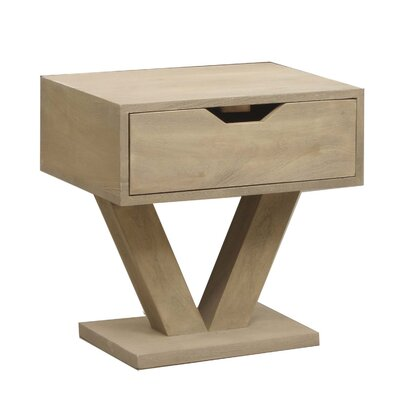 Dalton Modern Wood 1 Drawer Nightstand