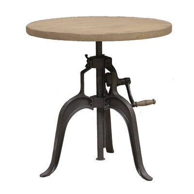 Mercer Round Industrial Dining Table Top Finish: Rustic
