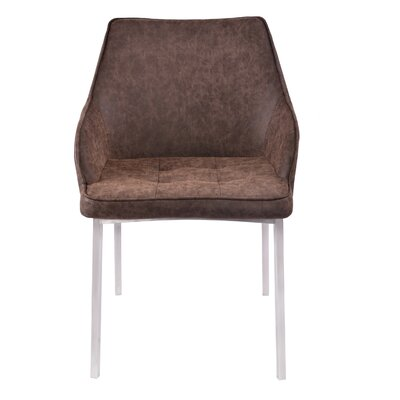 Hudson Modern Upholstered Dining Chair Upholstery Color: Walnut