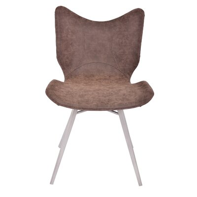 Hoxton Modern Upholstered Dining Chair Upholstery Color: Walnut