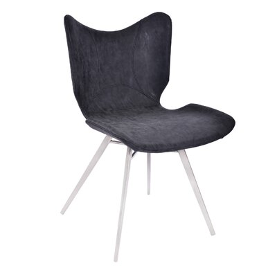 Hoxton Modern Upholstered Dining Chair Upholstery Color: Black