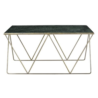 Mathis Marble Top Coffee Table Finish: Emerald/Nickel Gold