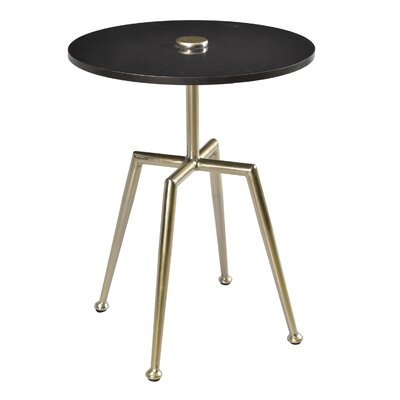 Mathis End Table Finish: Black/Nickel Gold