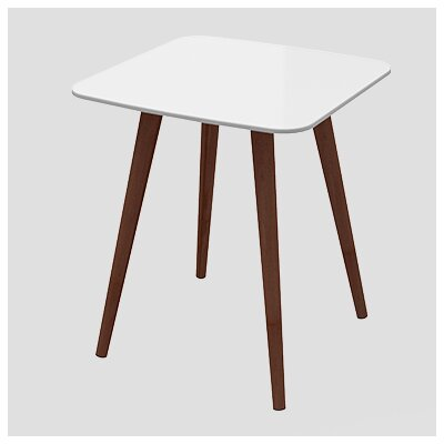 Artesano Lea End Table Finish: White