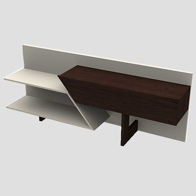 Artesano 63 TV Stand Color: Espresso/White