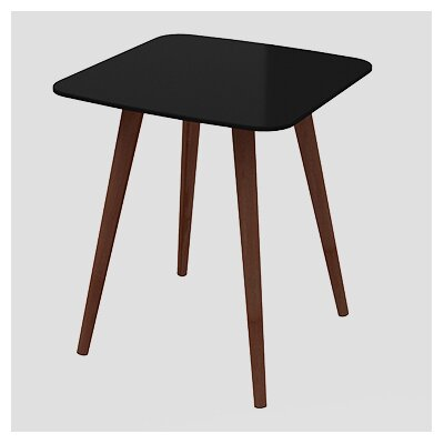 Artesano Lea End Table Color: Black