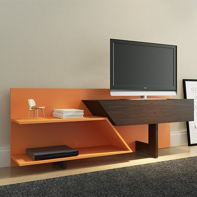 Artesano 63 TV Stand Color: Espresso/Orange