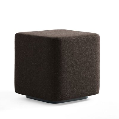 Dwell Ancillary Square Ottoman Color: Dolce Chocolate