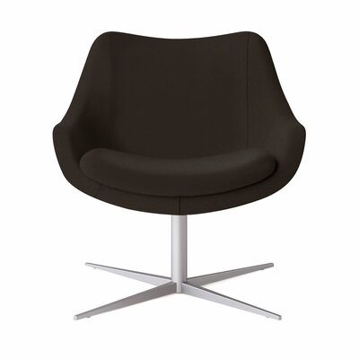 Bloom Swivel Lounge Chair Color: Dolce Chocolate