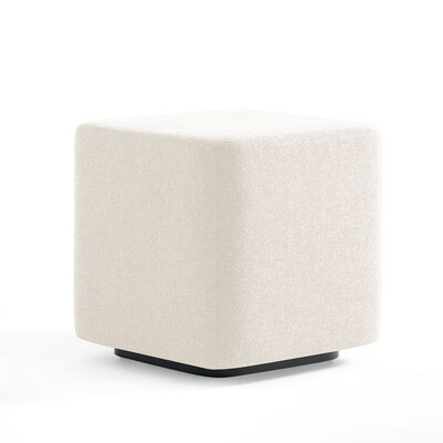 Dwell Ancillary Cube Ottoman Color: Dolce White