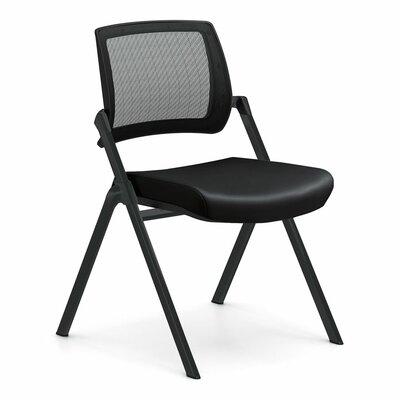 Flip Armless Nesting Guest Chair Seat Color: Dolce Black