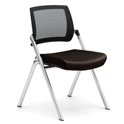 Flip Armless Nesting Guest Chair Seat Color: Dolce Chocolate