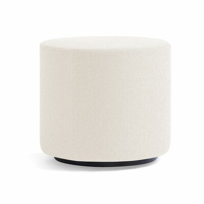 Dwell Ancillary Round Ottoman Color: Dolce White