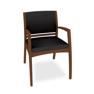 Beo Three Quarter Upholstered Back Guest Chair Color: Dolce Black