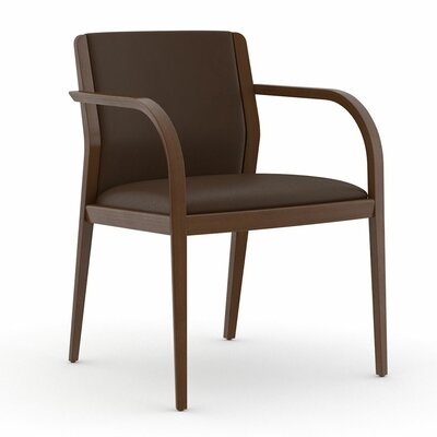 Abbott Fully Upholstered Back Guest Chair Color: Dolce Chocolate