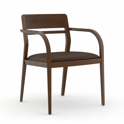 Abbott Open Back Guest Chair Seat Color: Dolce Chocolate