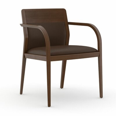 Abbott Half Upholstered Back Guest Chair Color: Dolce Chocolate