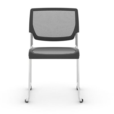Poly Mesh Stacker Side Guest Chair Color: Black Tie