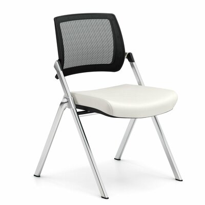 Flip Armless Nesting Guest Chair Seat Color: Dolce White