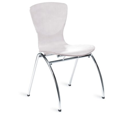 Bingo Armless Stackable Guest Chair FInish: White