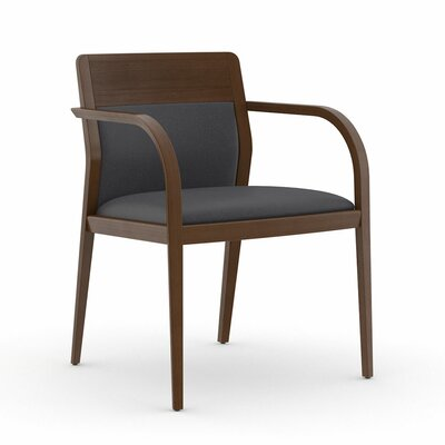 Abbott Half Upholstered Back Guest Chair Color: Dolce Indigo