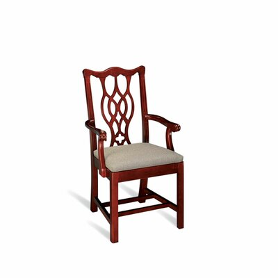 Independence Richland Fluted Chippendale Splat Back Upholstered Dining Chair