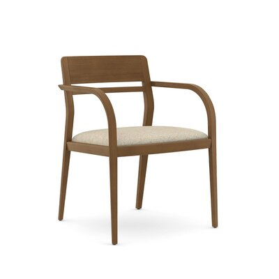 Abbott Open Back with Wood Top and Slat Guest Chair