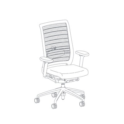 Height Adjustable Arms Mid Back Office Chair Xtreme Product Image 11295