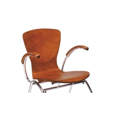 Bingo Stacking Guest Chair with Arms Seat Color: Honey Wood