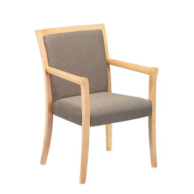 Acapella Wood Top Rail Guest Chair with Arms