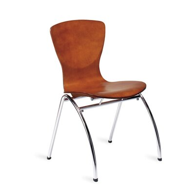 Bingo Stacking Guest Chair Without Arms Seat Color: Honey Wood