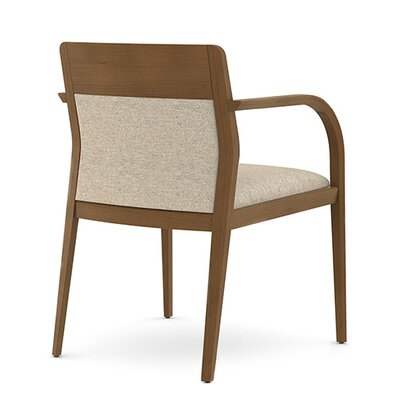 Abbott Upholstered Back Guest Chair with Wood Top