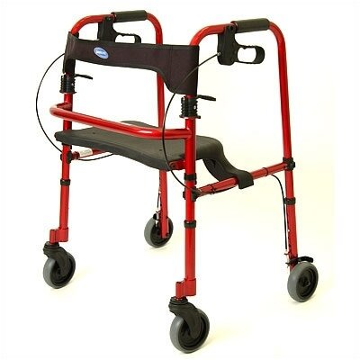 invacare Rollite Rollator - Size: Adult, Color: Electric Red at Sears.com