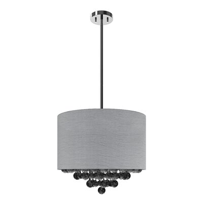 Pearl Rain Nest 4-Light Drum Pendant