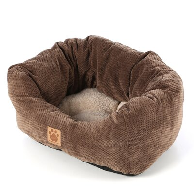 Maupin Spot Tailored Daydreamer Bolster Dog Bed Size: Medium (26 L x 22 W), Color: Coffee Liqueur Chenille