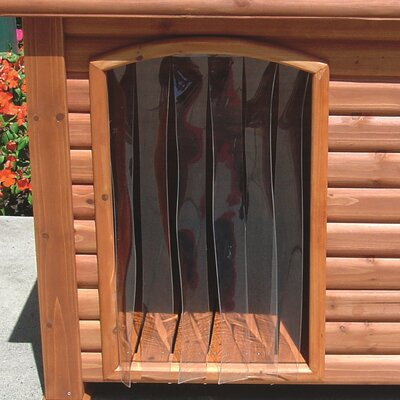 Outback Dog House Door in Clear Size: Small (14.5 x 9.8)