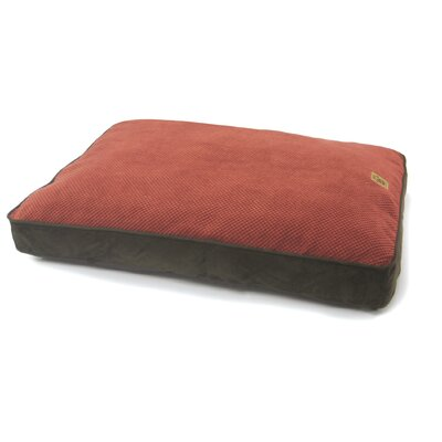 """Gusset Floor Dog Pillow Size: Large (40"""" L x 30"""" W), Color: Rust / Chocolate"""